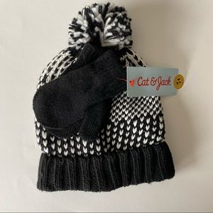 NWT Cat & Jack hat and gloves set 12-24 months